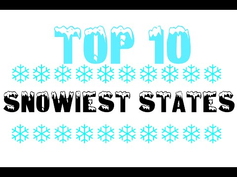 Top 10 Snowiest States In The US