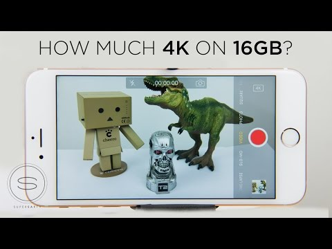 iPhone 6s  How much 4K on 16GB?
