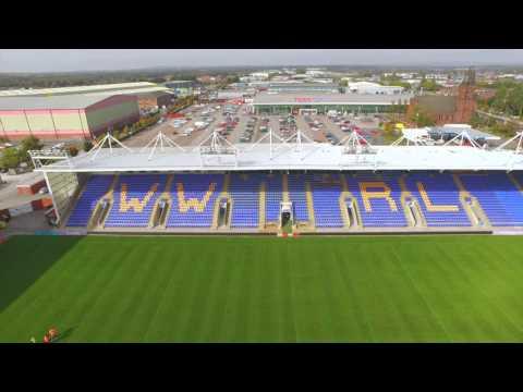 Warrington Wolves Stadium Aerial footage