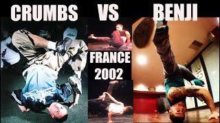 Bboy Crumbs (USA) Vs. Benji (France) 8 Round Bboy Battle in 2002