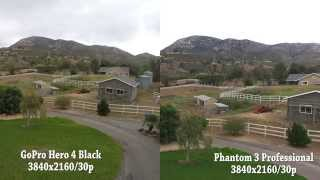 DJI Phantom 3 Pro vs GoPro Hero 4 Black Camera Test UHD 4k
