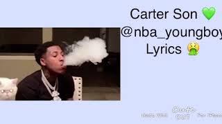 Carter son @nba_youngboy lyrics