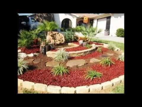 Dise o y decoraci n de jardines con piedras youtube for Carretillas de adorno para jardin