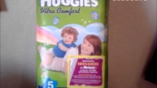 Видео обзоры HUGGIES Ultra Comfort 4