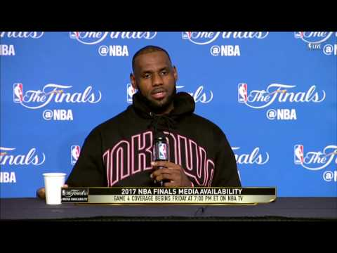 LeBron James pays respects to Todd Harris RIP, discusses game 3 | NBA Finals | June 8, 2017