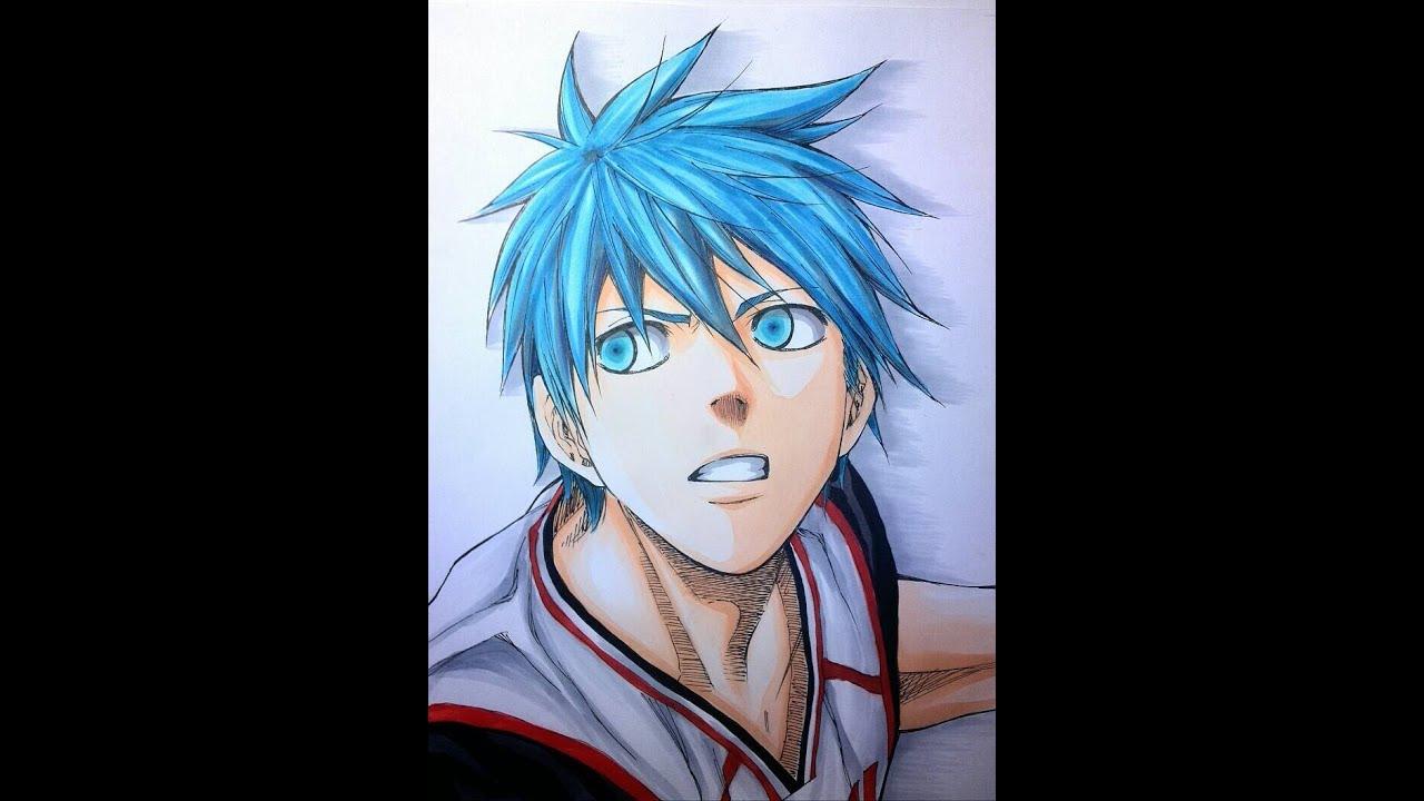 【黒子のバスケ】黒子テツヤを手書きで描いてみた Tetsuya Kuroko of Kurokos Basketball was drawn. , YouTube