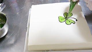 四角いお祝いケーキの作り方 時短版