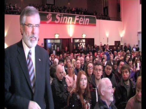 Challenge bigotry and sectarianism Adams tells huge Belfast meeting