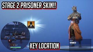 STAGE 2 PRISONER SKIN GUIDE! Secret key LOCATION!! Fortnite Battle Royale