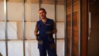 видео Гипсокартон в каркасном доме: виды и монтаж