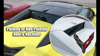 C8 CORVETTE HARDTOP CONVERTIBLE PAINTED or NON PAINTED ROOF & NACELLES