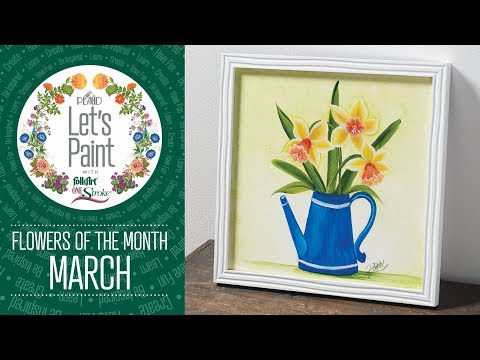 Let's Paint – Donna Dewberry FolkArt One Stoke – March – Daffodil
