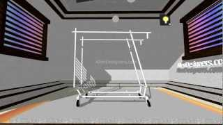 Double Bar Collapsible Garment Rack - Clothes Rack.avi