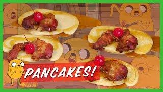 Adventure Time Bacon Pancakes | Cooking 4k | Strawburry17