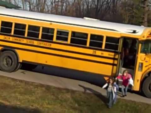 school bus salem indiana; Dad makes a movie