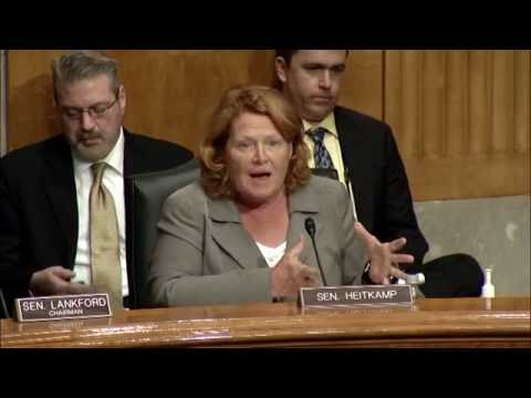 Heitkamp Helps Lead Senate Hearing on Reviewing Independence Agency Rulemaking