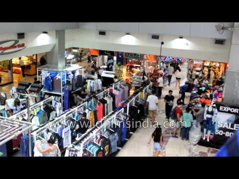Deep cleavage flaunting models at Central mall in Bangkok, MBK atrium thumbnail