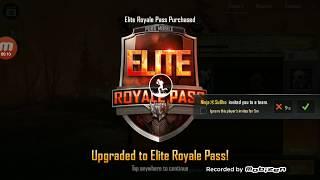 Purchasing elite pass Season 5 in PUBG MOBILE