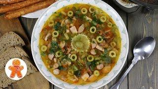 видео Как приготовить суп солянка. Рецепт солянка: готовим пошагово с фото