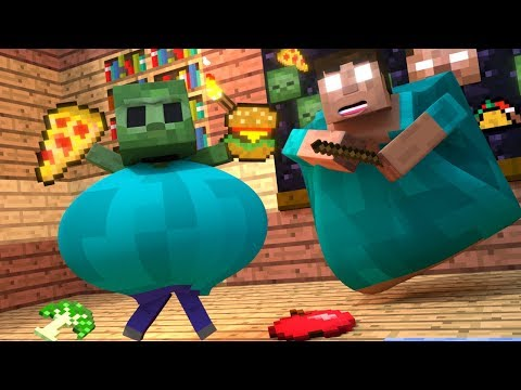 Top 5 Minecraft Zombie Life - Minecraft Animations For Kids
