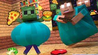 Top 5 Minecraft Zombie Life - Minecraft Animations