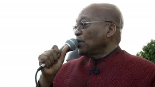 President Jacob Zuma addressing foreign nationals in Durban.