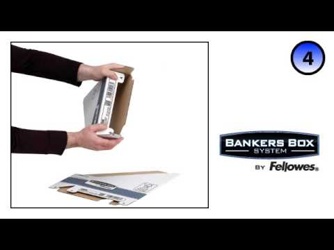 Bankers Box System Blue Magazine File Assembly Demo YouTube Impressive Bankers Box Magazine Holders