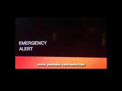 EMERGENCY ALERT ON CALIFORNIA TV IN THE MORNING  21/09/17