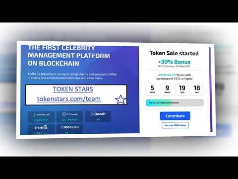 TOKENSTAR - The world's first Blockchain-based  Platform  Celebrity Management