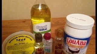 home made creamy shea butter mix shinny define