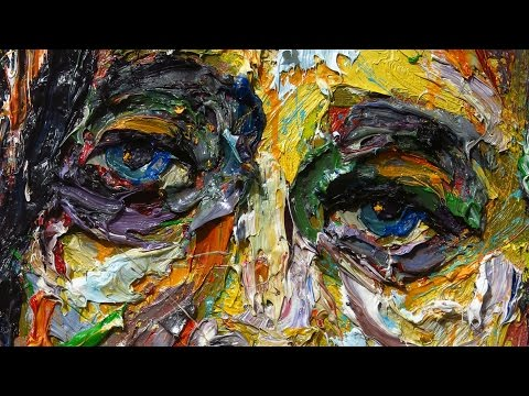 x1114 – original oil painting 3D face contemporary impressionist art realism impasto female portrait