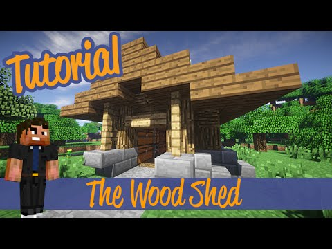 Minecraft Tutorials Small Wood Shed Shack Addon Ps4 Xbox