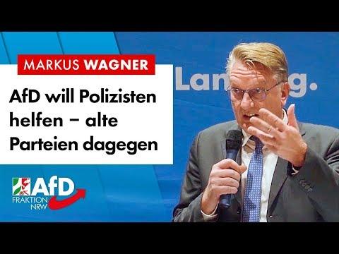 AfD will Polizisten helfen - alte Parteien dagegen - Markus Wagner (AfD)