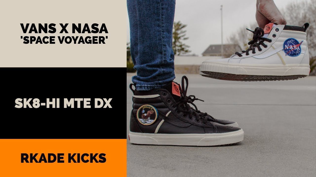 199d619468 Vans x NASA Space Voyager Sk8 Hi MTE DX W  On Foot - YouTube