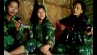 Naga girls in army uniform singing beautiful local love song 3gp