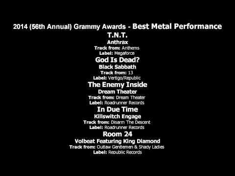 56th Annual Grammy Awards - Best Metal Performance Nominees [text]