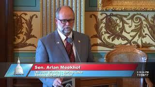 Sen. Meekhof speaks in support of Senate Bill 584