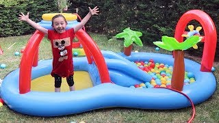 Öykü's Well wish of the Pretend Play New Swimming Pool Family fun kid video Oyuncak Avı