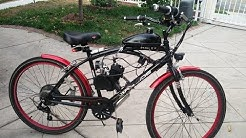 80cc/66cc Bike Engine Kit on beach cruiser Motorized bike