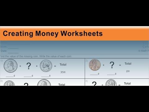 Money Worksheets - YouTube