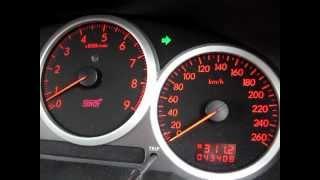 インプレッサのフル加速。0~100km/hまで。
