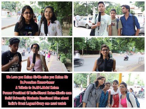 Dr APJ  Abdul Kalam-Delhi University Students Homage-Dr Poornima Kumar