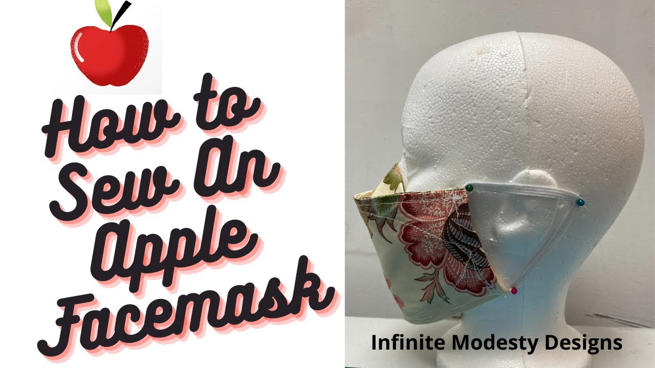 HOW TO SEW APPLE FACEMASK/DIY APPLE FACEMASK