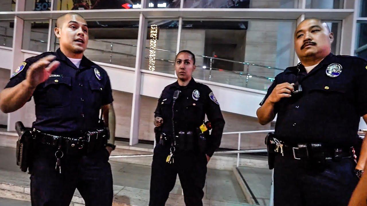 intimidating police