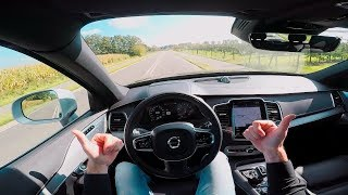 2017 VOLVO XC90 T5 AWD GEARTRONIC R DESIGN POV TEST DRIVE BY DRIVE711