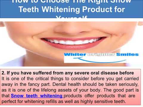 Snow Teeth Whitening  Difference