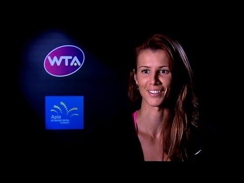 Tsvetana Pironkova on Winning 2014 Apia International Sydney
