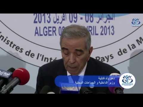 Conférence à Alger Des Ministres De L'interieur (CIMO)