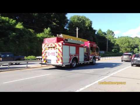 Town of Bedford PD Car 24 + Katonah FD Engine 115 Responding