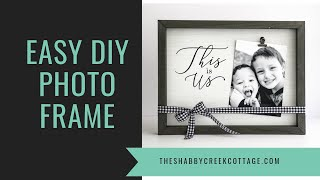How to Make a Beautiful DIY Picture Frame in Minutes with Chalk Couture Video